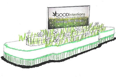 A rendering of the float that will be in the 2014 McDonald's Thanksgiving Day Parade from medical marijuana clinic Good Intentions in Wicker Park