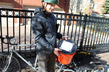 Jonathan Scheffel has launched a mobile compost collection service on the city's South Side.