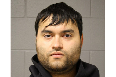 Prosecutors said Jorge Toledo, 25, robbed two people before driving off and crashing into a taxi.