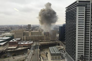 Fire At Old Main Post Office Spreads To Top Floor Roof