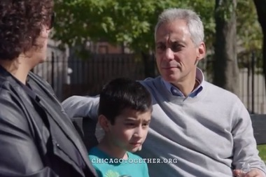 Mayor Rahm Emanuel cracked open his $10.5 million campaign war chest this week to hit the airwaves with a re-election ad touting himself as a guy who gets things done for regular folks.