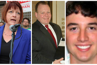 Progressive activist Maureen Sullivan, lawyer and lobbyist Patrick Daley Thompson and John Kozlar.