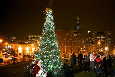 christmas tree lighting chicago. The 2012 Tree Lighting At Mary Bartelme Park In West Loop. Christmas Chicago I