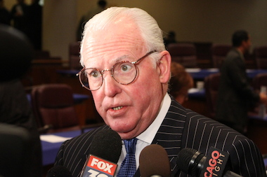 Ald. Edward Burke said he was taught to use his nightstick to choke uncooperative suspects as a Chicago Police recruit in 1965.