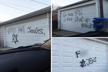 Neighbors posted photos of the graffiti online to raise awareness that the perpetrators had not been caught.