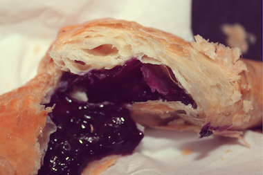 Berrista's pastries, like this blueberry turnover, will be made with and without sugar. Owner Homaro Cantu's goal is to provide a healthier alternative to fast food.