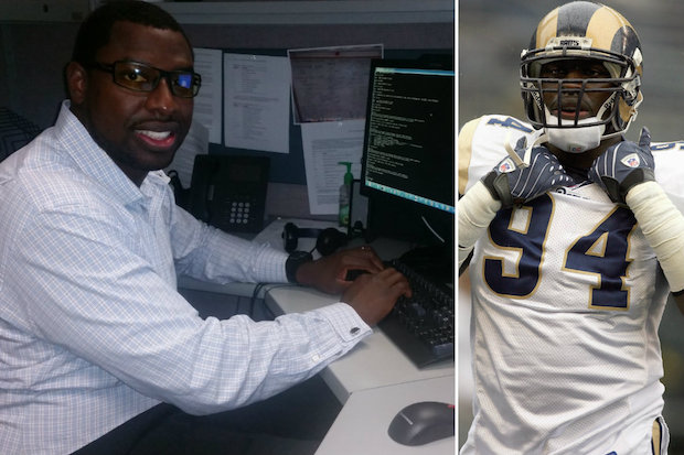 Curie graduate and former Gage Park resident Victor Adeyanju played more than four years in the NFL. Now he's an IT database analyst for Best Western Hotels in Arizona.