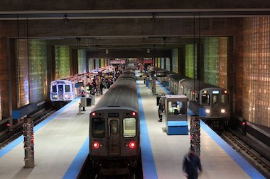 it smells like cinnamon and you can catch it at the logan square wicker park - Cta Christmas Train 2014