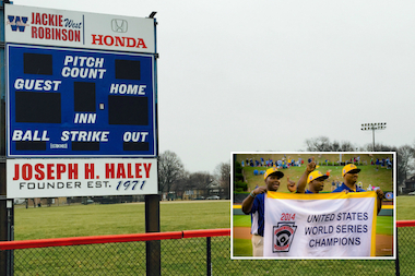The Jackie Robinson West Little League team was stripped of its U.S. championship Wednesday after Little League International officials determined a secret boundary remap allowed the team to add star players from outside its boundaries.