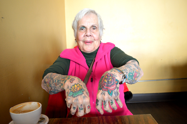Check Out This 82 Year Old Woman S Hardcore Tattoos