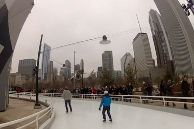 Hundreds of people looked on as skaters tested out the city's newest attraction.