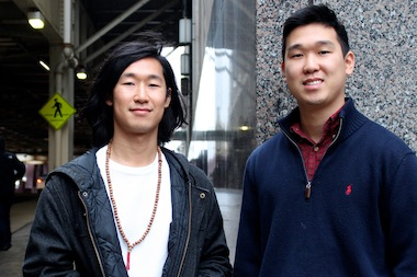James (l.) and John Yi, founders of NextME.