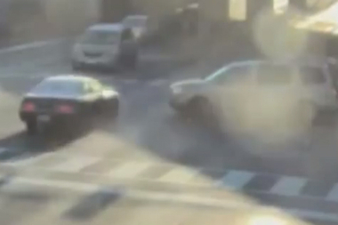 The city compiled a video of crashes caugt on video by red light cameras.