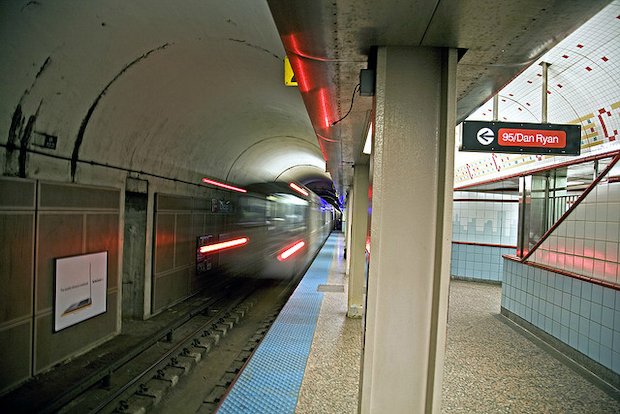 A group of three or four men have been linked to three robberies on or near the Red Line this week in which they have punched victims in the face before running away with their belongings.