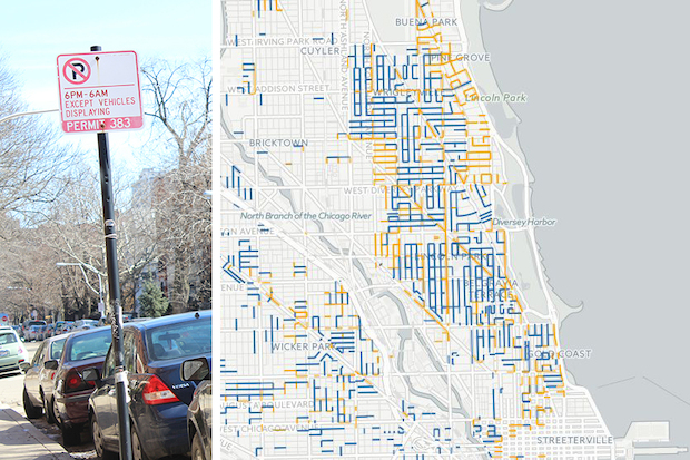 Where Not To Park City Unveils New Residential Parking Zone Map River North Chicago Dnainfo