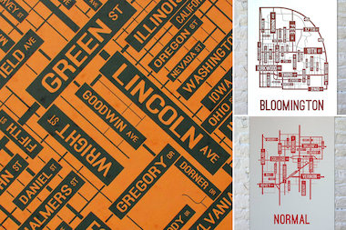 School Street Posters of Urbana-Champaign; Bloomington, Ind.; and Normal, Ill. The company is based in Roscoe Village