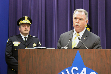 Supt. Garry McCarthy said the number of Chicago murders are at the lowest level since 1965.