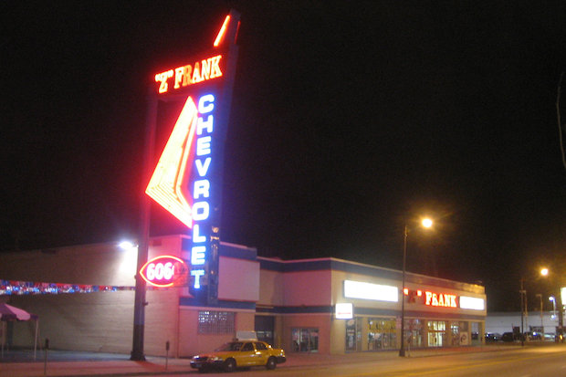 Huge Z Frank Neon Sign Faces Wrecking Ball But You Can Have It For Free West Rogers Park Chicago Dnainfo