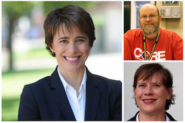 Ald. Deb Mell, Timothy Meegan and Annisa Wanat will meet at a 33rd Ward candidate forum Jan. 27.