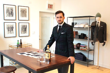 Zach Uttich opened BLVDier, a new men's custom suit shop in Fulton Market, earlier this month.