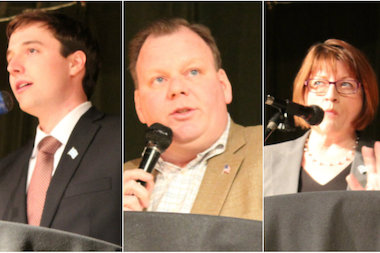 The candidates for 11th Ward aldrman outlined their visions for Canaryville and City Hall at Wednesday's forum.