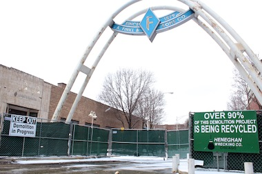 Demolition of the former A. Finkl & Sons Co. Lincoln Park campus has begun.