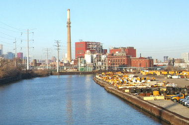 The city wants to put a public park in part of the old Fisk Power Plant site (in rear of photo).