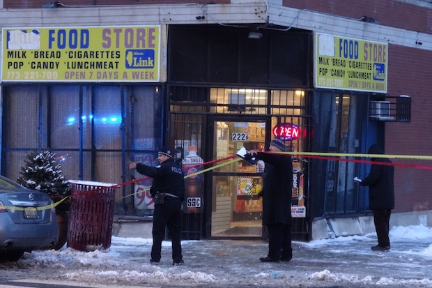 Three people were shot on the 2200 block of East 79th Street on Tuesday.