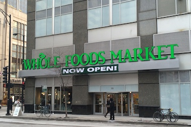 The Whole Foods storefront at 255 E. Grand Ave. opened Jan. 28 as the 20th Chicago area location. The 50,000-square-foot grocery replaced a Dominick's store that closed there in December 2013.
