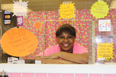 Karen Gibson opened her first cupcake business last May at 71st and State streets. She'd welcome more businesses on the strip between 69th and 79th streets, she said.