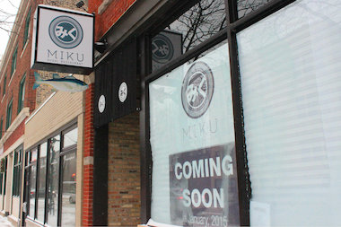 In the span of a year, the storefront at 4514 N. Lincoln Ave. has gone from Tank Sushi to Laughing Bird and now Miku Sushi.