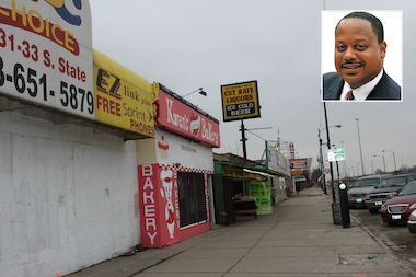 Ald. Eugene Sawyer (6th) wants to revitalize a strip of State Street along the Dan Ryan Expy. in Chatham.