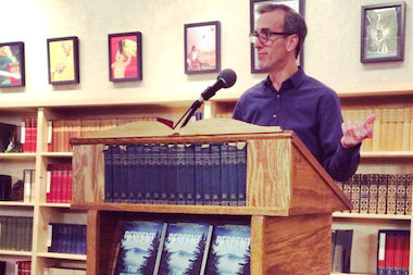 "Tim Johnston will read from his literary thriller, ""Descent,"" Wednesday at The Book Cellar."