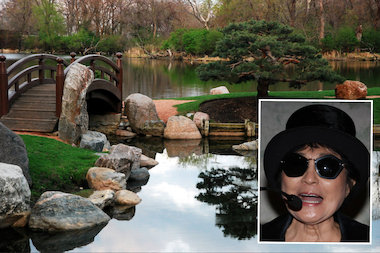 A plan to remake Jackson Park's green space is receiving help from an unexpected collaborator: New York artist Yoko Ono.