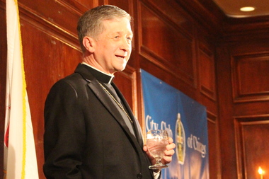 Archbishop Blase Cupich addressed the City Club for the first time Wednesday.