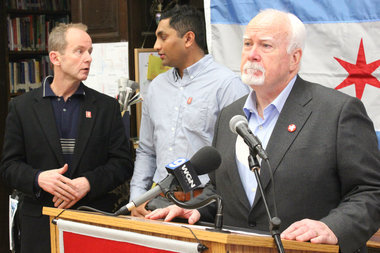 Aldermen Tom Tunney, Ameya Pawar and Pat O'Connor announced they will pool resources to build a K-12 school system across their three wards.