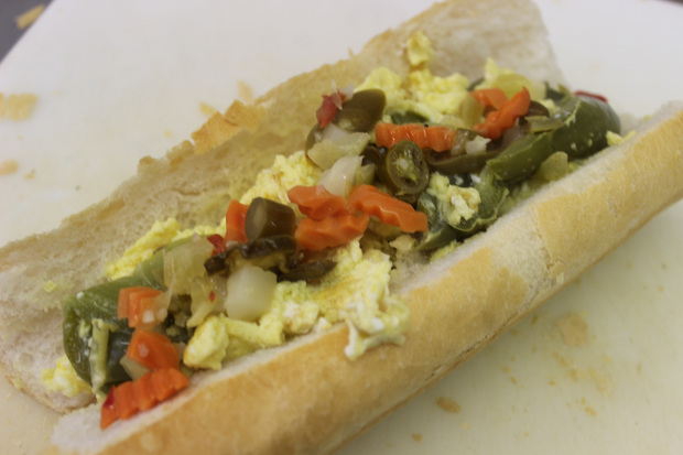 Fiore's Delicatessen in West Town serves the pepper and egg sandwich.