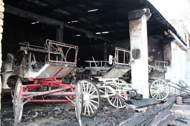 The exterior and interior of the Old Town stable was damaged in the fire.