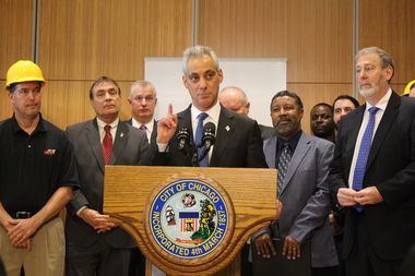 Mayor Rahm Emanuel credited the new Illinois Clean Jobs Coalition for its push to bring more jobs and less pollution to the state and city.