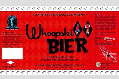Whoopskibeer — a deep amber German-style ale designed to complement the Whoopskidawg — will go on tap March 12 at Iron Horse Ale House, 6158 N. Northwest Hwy.