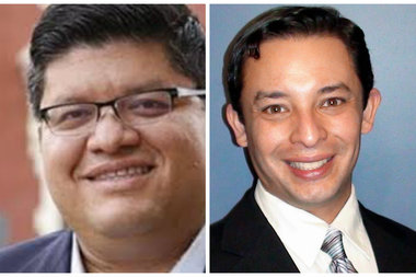 Ray Lopez (from l.)  and Rafael Yanez are vying for the 15th ward aldermanic seat.