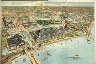 A bird's eye view of the 1893 World's Columbian Exposition