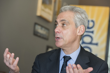 Rahm Emanuel on Tuesday.