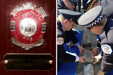 Herbie Johnson S Badge Added To Fire Department Honor
