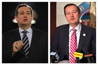 Cubs owner Tom Ricketts (r.) and presidential candidate Sen. Ted Cruz look quite similar.