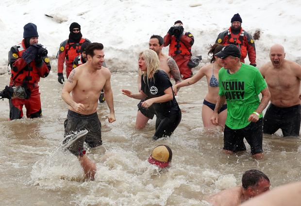 "Vince Vaughn, Lady Gaga and ""Chicago Fire"" stars were among 4,500 people who took the plunge to raise money for the Chicago Special Olympics."