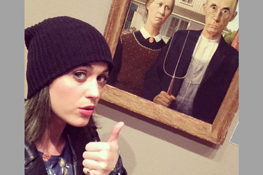 Pop star Katy Perry snapped a selfie during a 2013 visit to the Art Institute.