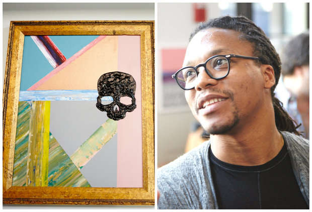The Chicago-born rapper's paintings will be on display in Jefferson Park starting Sept. 23.