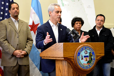 Mayor Rahm Emanuel announced plans to remove 50 red-light cameras from 25 Chicago intersections.