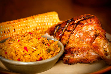 Spicy Portuguese-style chicken is the signature offering at Nando's Peri Peri.